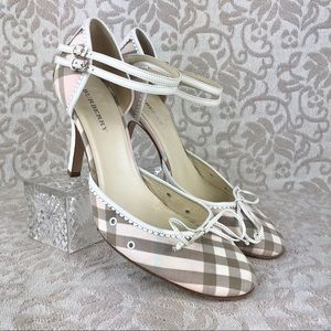 Burberry Nova Check High Heel Pumps